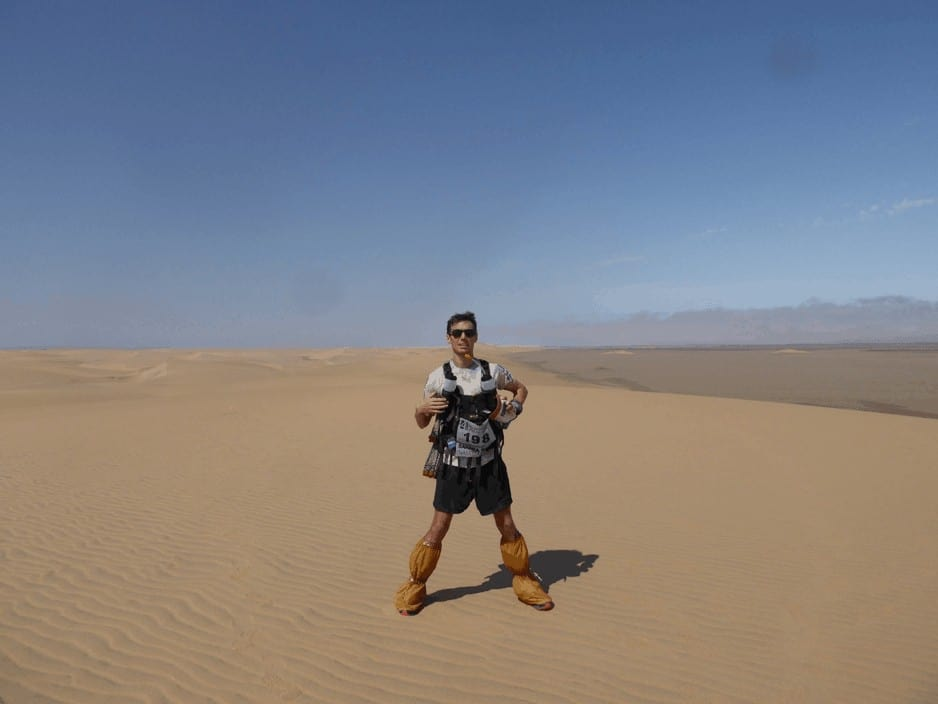 Me on top of the biggest sand dune! Photo by Sam Fanshawe