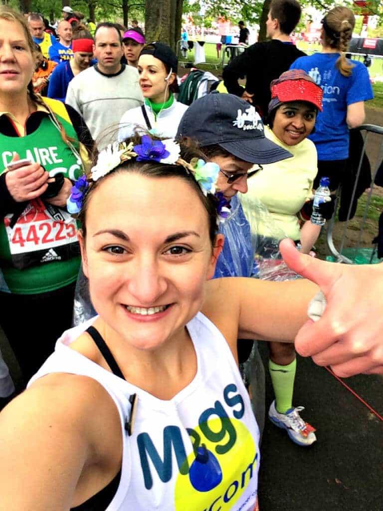 Megan Start Line - London Marathon
