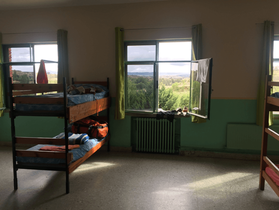 The dorm room we stayed in after day 2