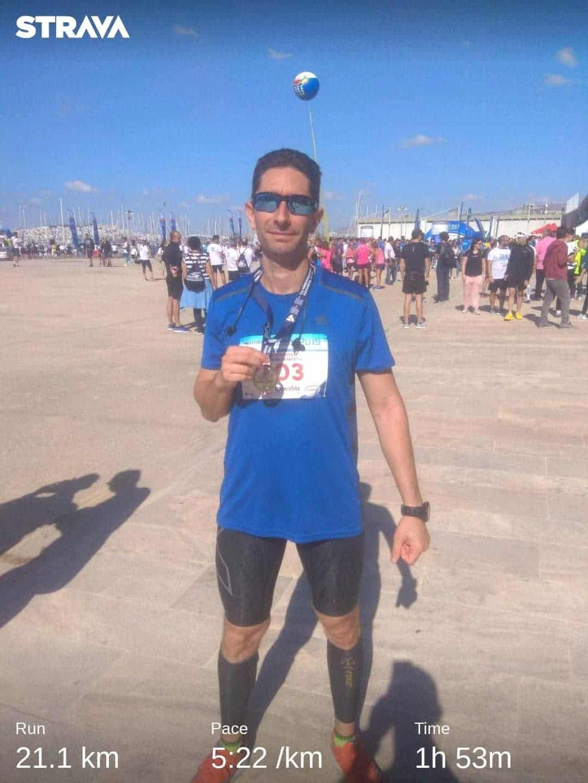 Half-marathon during marathon training