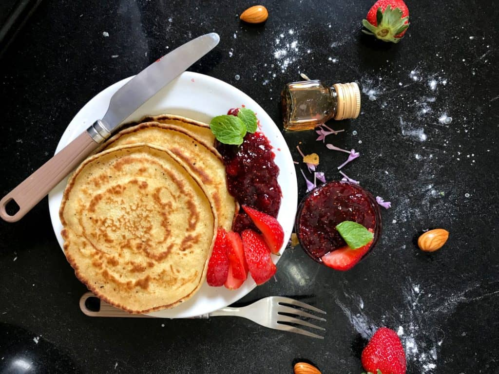 marathon training nutrition pancakes