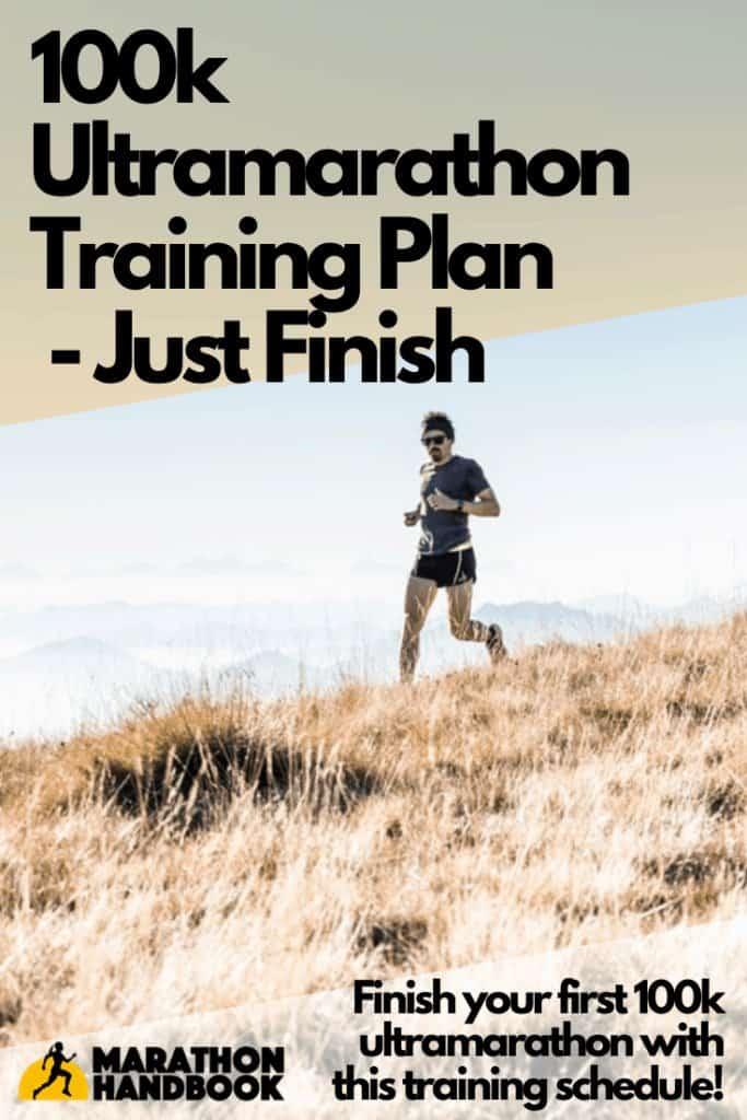 100k ultramarathon training plan - just finish