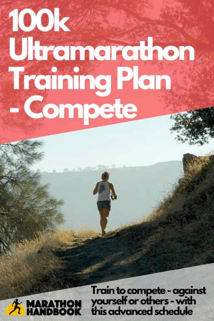 100k ultramarathon training plan compete