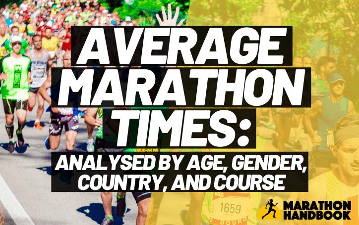 Average Marathon Times: Broken down by age, gender, and marathon
