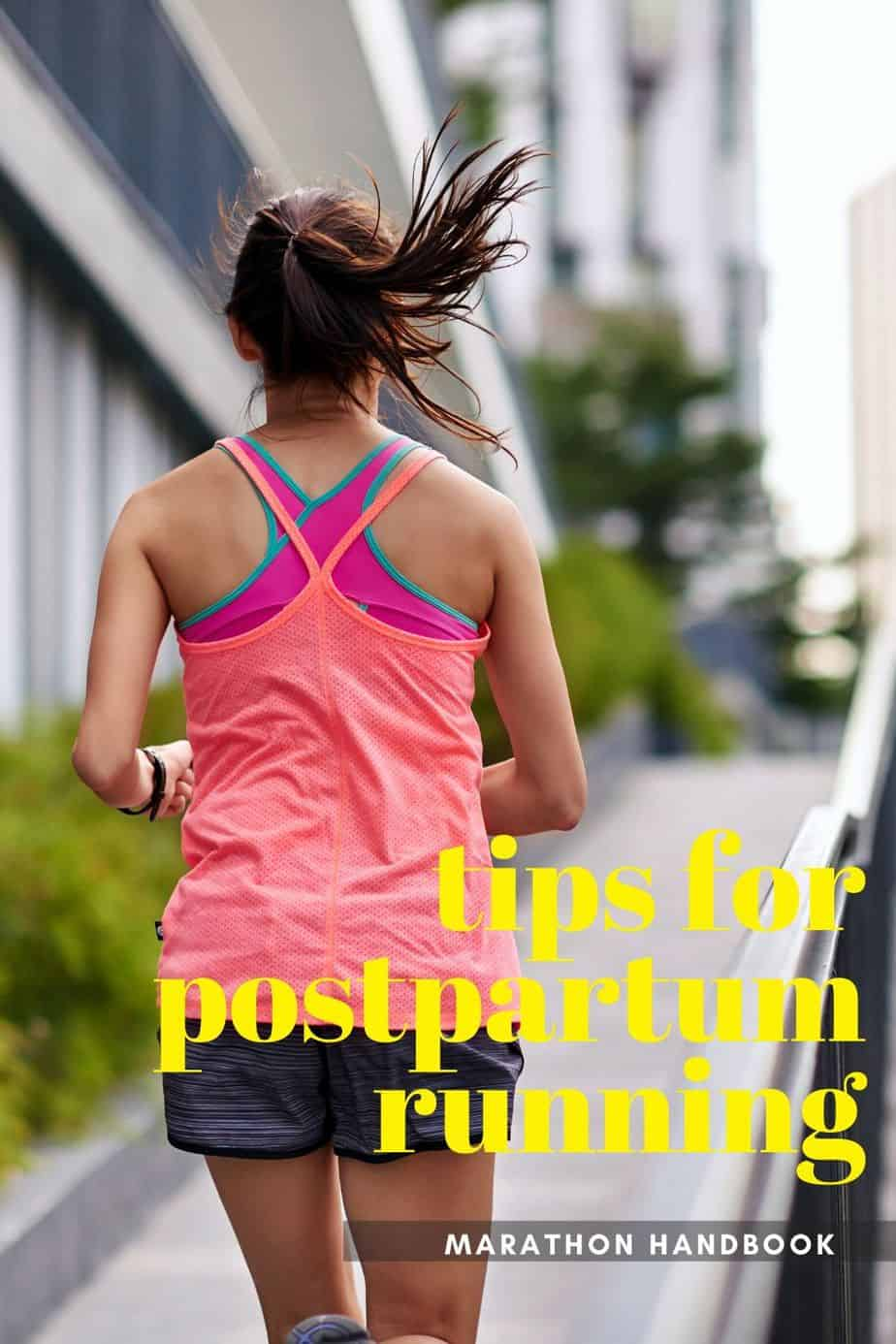 woman running in colorful tank top with text overlay