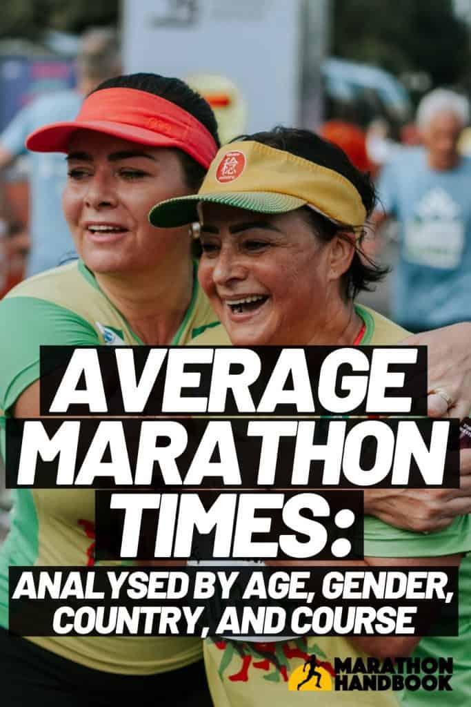 average marathon times by age, gender, etc