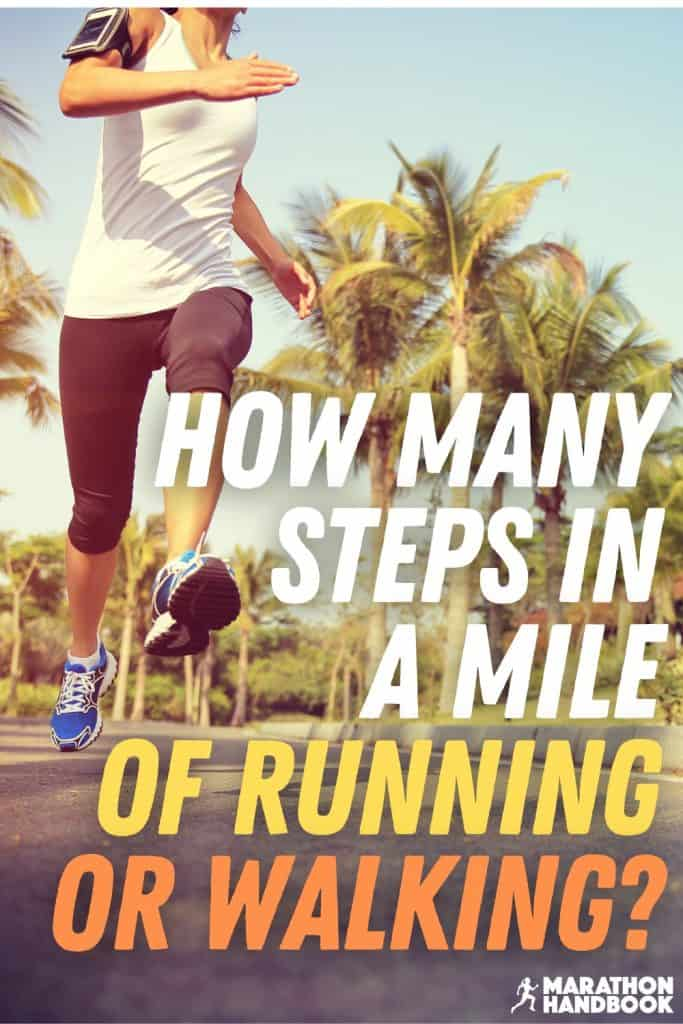 how many steps in a mile running?