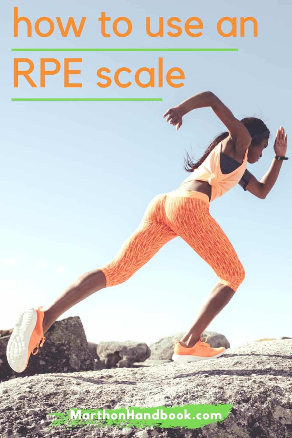 Have you heard of the Rate of Perceived Exertion (RPE) chart but not sure how it's used or whether it is useful for your running workouts?  We explain what RPE is and how to use it for creating workout routines.   MarathonHandbook.com #running #fitness