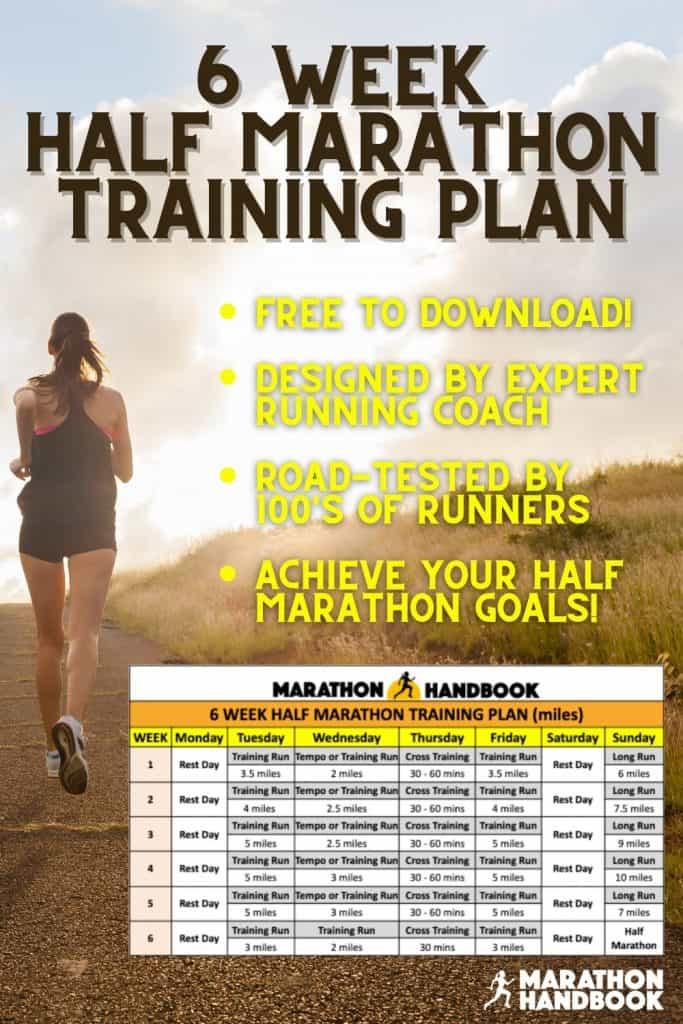 6 week half marathon training