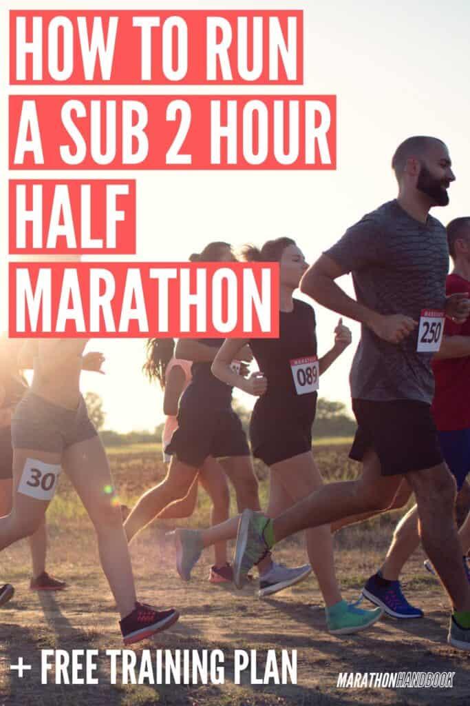 how to run a sub 2 hour half marathon pace
