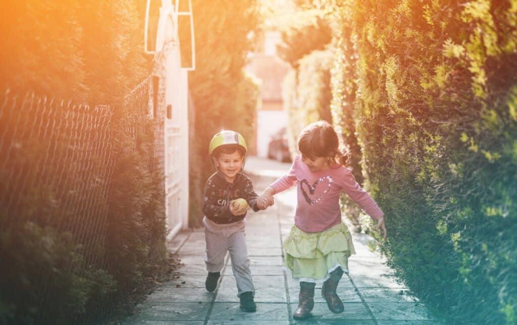 love running kids